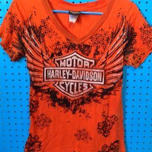 Harley Davdison Women's V-Neck T-Shirt